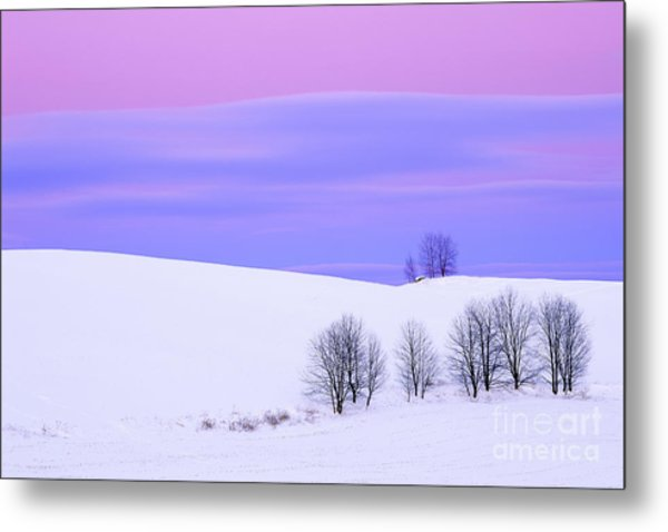 Winter Twilight Landscape Metal Print