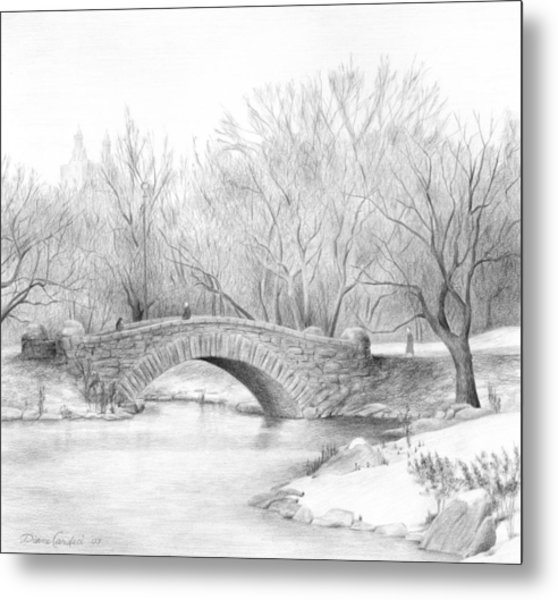 Winter Walk Metal Print by Diane Cardaci