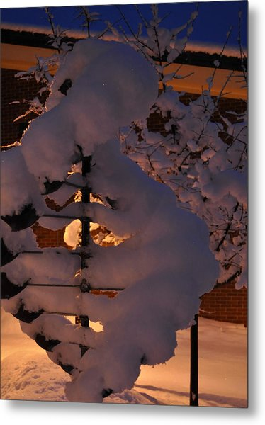 Winter Whirligig Metal Print