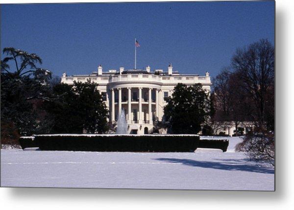 Winter White House  Metal Print