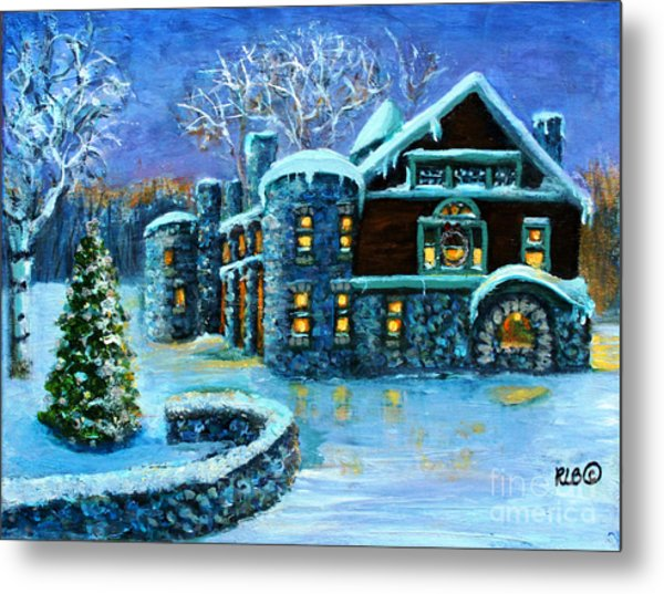 Winter Wonderland At The Paine Estate Metal Print