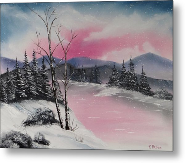 Metal Print featuring the painting Winter Wonderland by Kevin  Brown