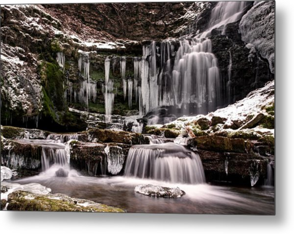 Winter Wonders At Scaleber Force Metal Print by Chris Frost