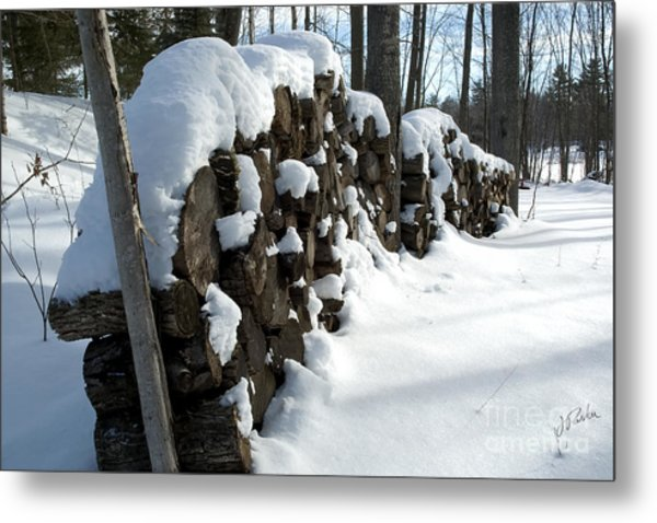 Winter Wood Supply Metal Print