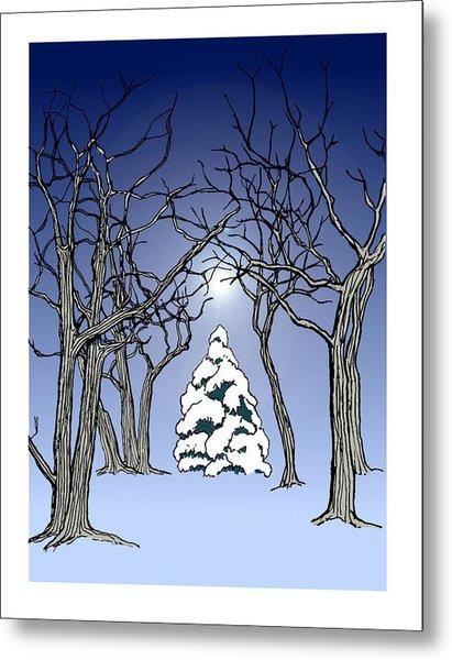 Winter Woods 3 Metal Print