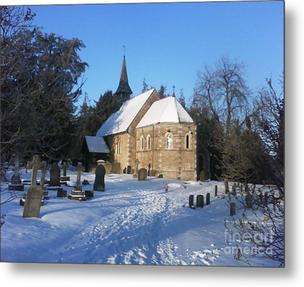 Winter Worship Metal Print