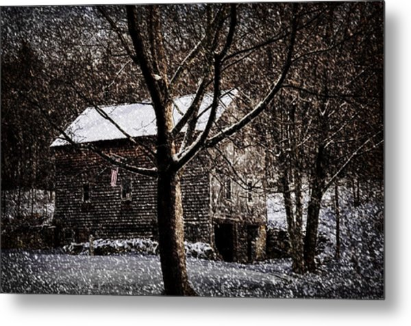 Winters At The Farm Metal Print