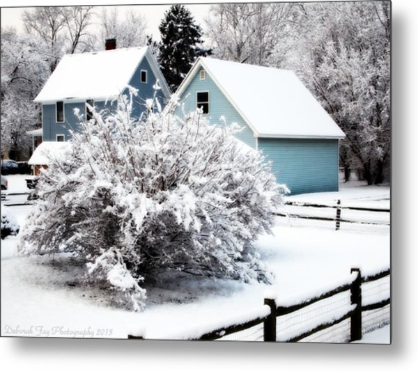 Winters First Snow Metal Print