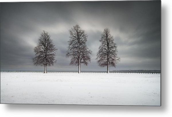 Winter's Halo Metal Print