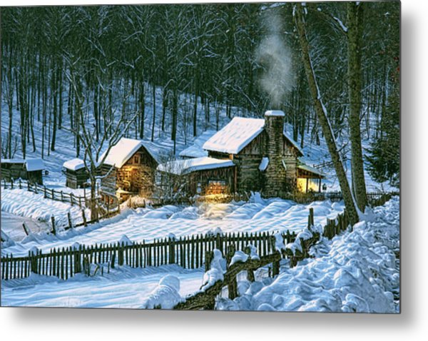 Winter's Haven Metal Print