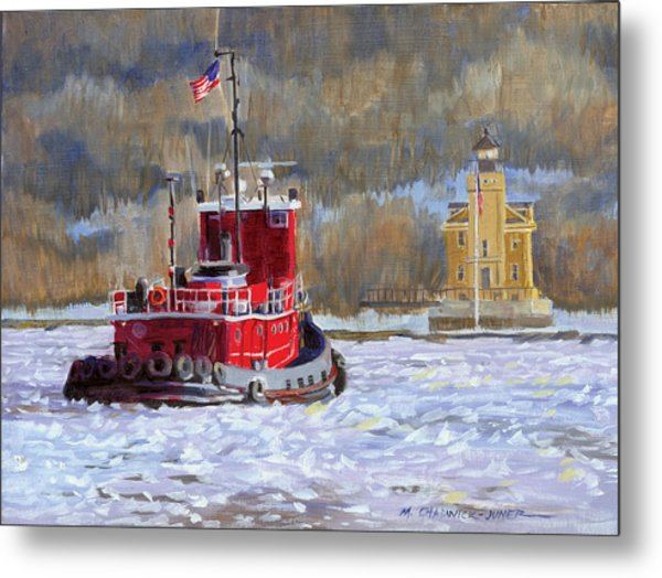 Winter's Ice-olation Metal Print