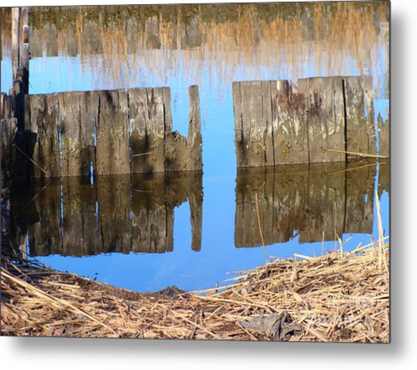 Winters Reflections Metal Print by Stacie Siemsen