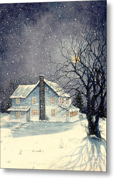 Winter's Silent Night Metal Print