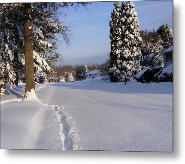 Winters Snow Metal Print
