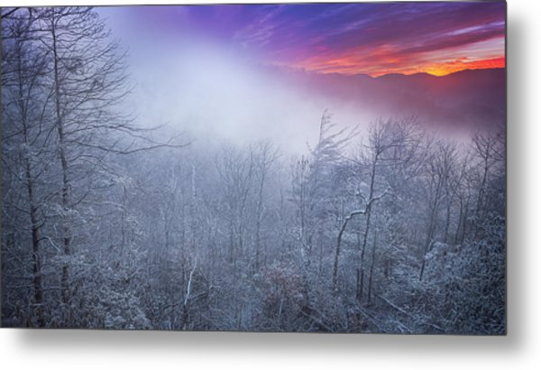 Winter's Sunrise Metal Print