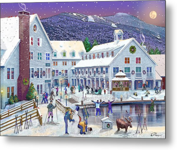 Wintertime At Waterville Valley New Hampshire Metal Print