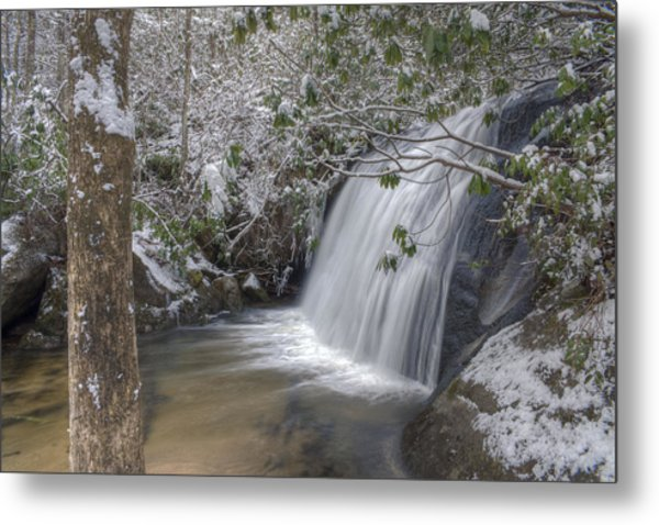 Wintery Frolictown Falls Metal Print by Stephen Gray