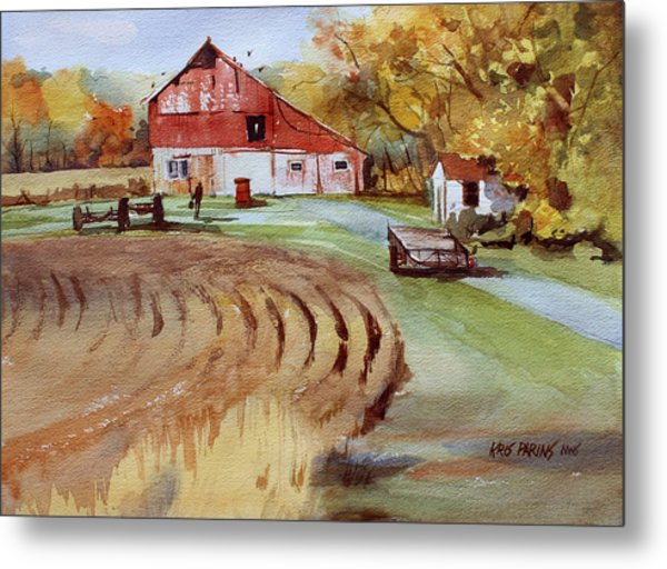 Wisconsin Barn Metal Print by Kris Parins