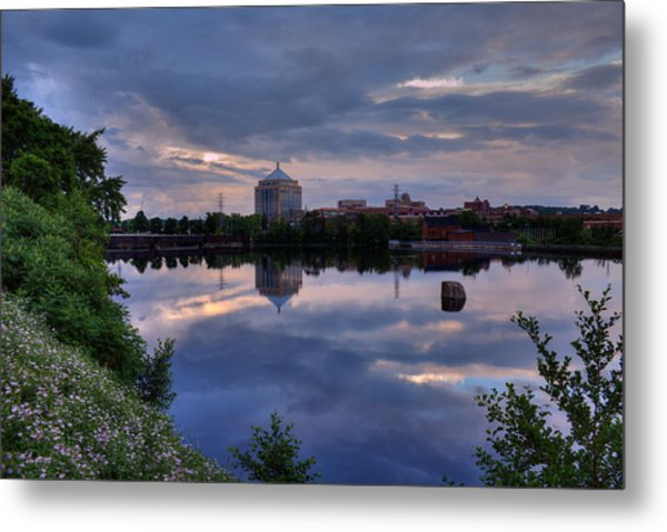 Wisconsin River Reflection Metal Print