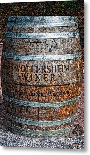 Wisconsin Wine Barrel Metal Print