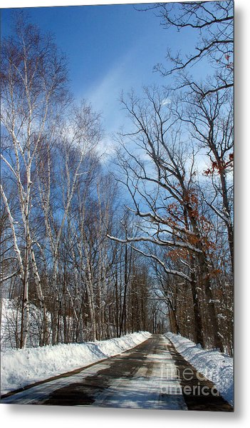 Wisconsin Winter Road Metal Print
