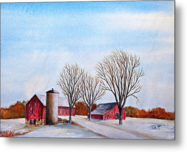 Wisconsin Winter Metal Print