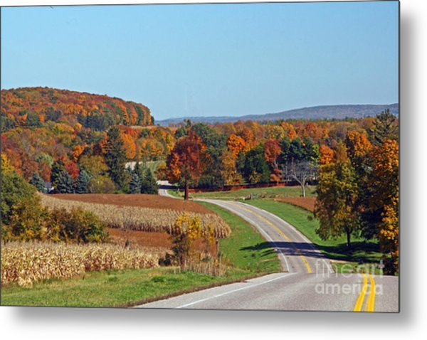 Wisconsin's Fall Color Metal Print