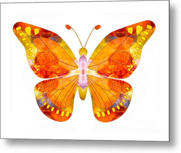 Wisdom And Flight Abstract Butterfly Art By Omaste Witkowski Metal Print