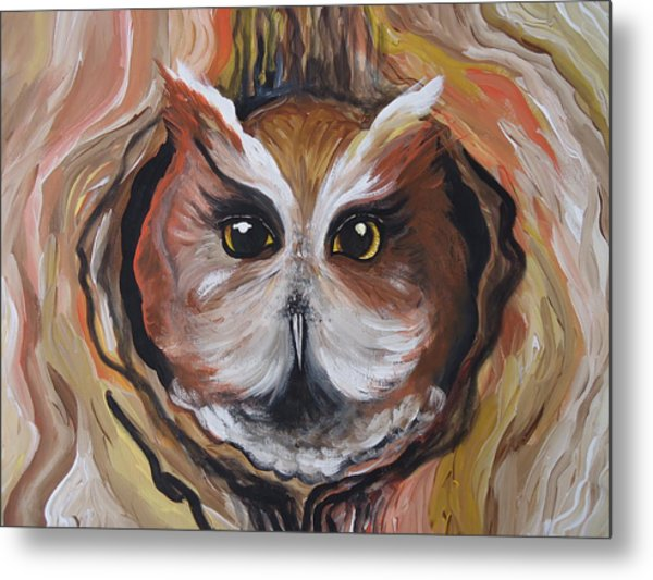 Wise Ole Owl Metal Print