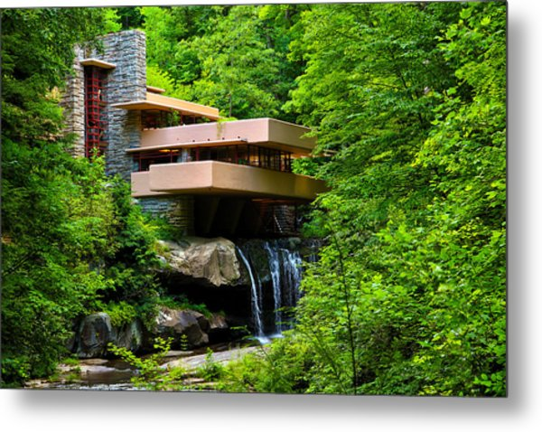 Wishes On Fallingwater Too Metal Print