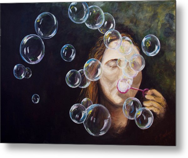 Wishing Bubbles Metal Print
