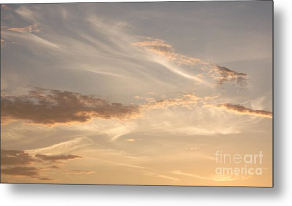 Wispy Sunset Metal Print