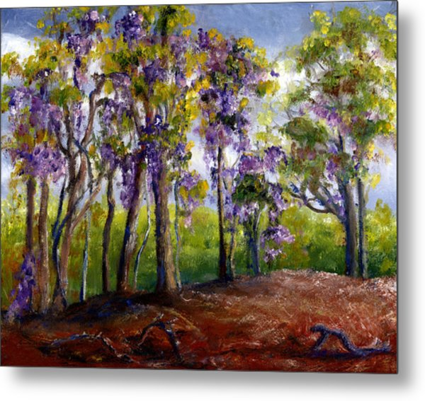 Wisteria In Louisiana Trees Metal Print