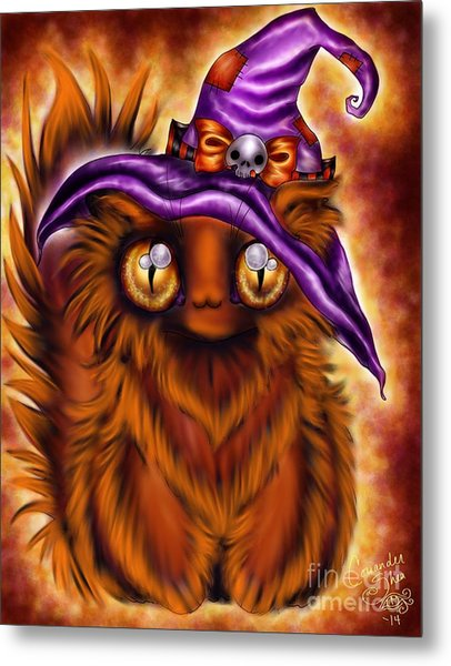 Witchkitty Metal Print by Coriander  Shea