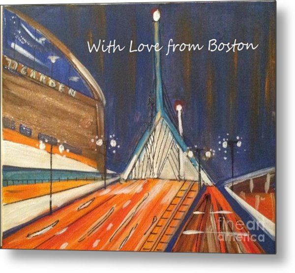 With Love From Boston Metal Print
