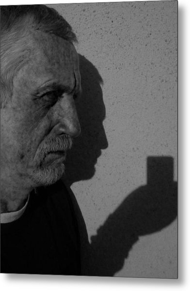 With The Shadow Of Our Past Metal Print
