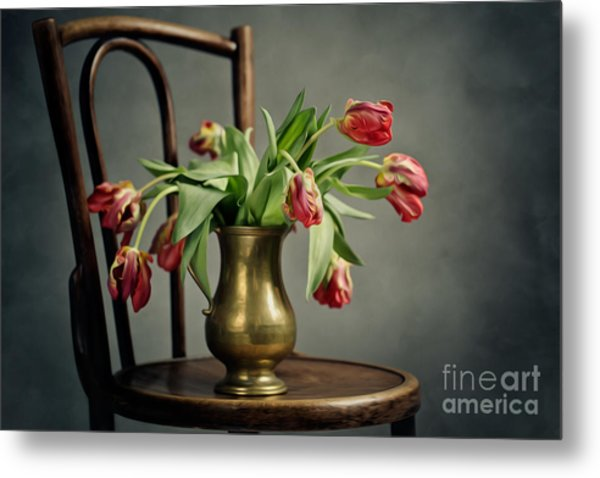 Withered Tulips Metal Print
