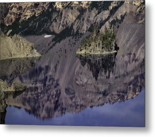 Wizard Island At Crater Lake Metal Print