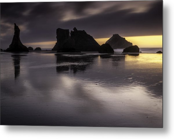 Wizards Hat And Face Rock Metal Print