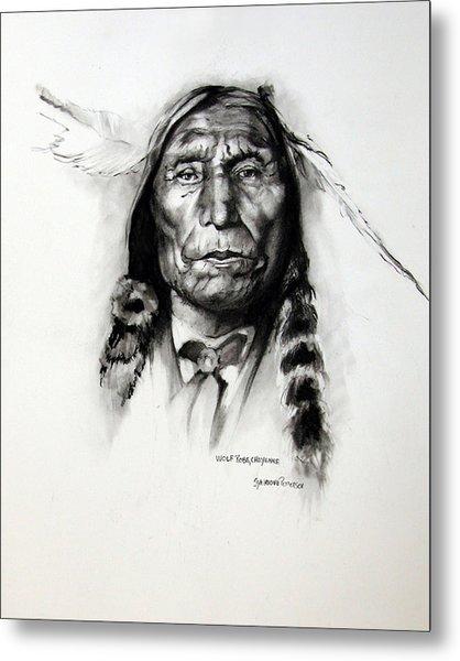 Wolf Robe - Cheyenne Metal Print