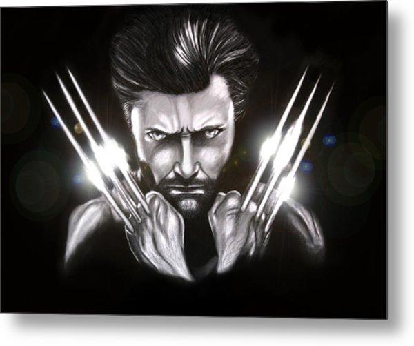 Wolverine Metal Print by Kim Lagerhem