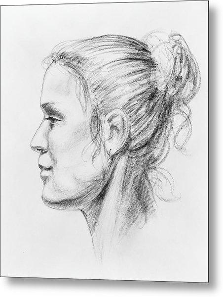 Woman Head Study Metal Print