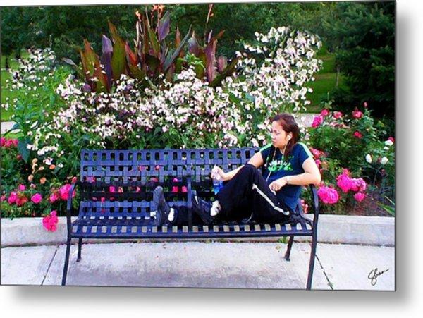 Woman In Wicker Park Metal Print by Shawn Lyte
