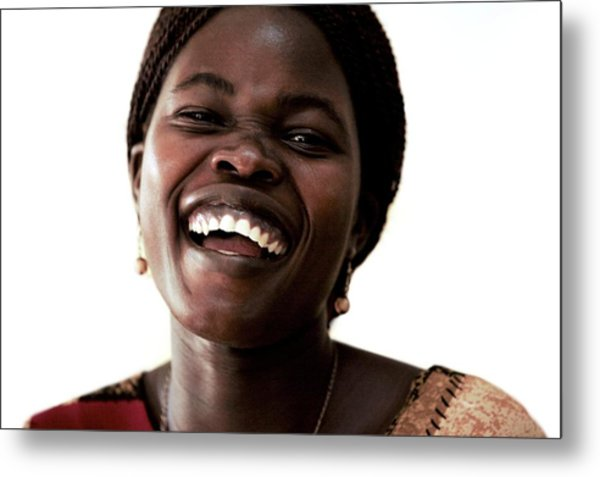 Woman Laughing Metal Print