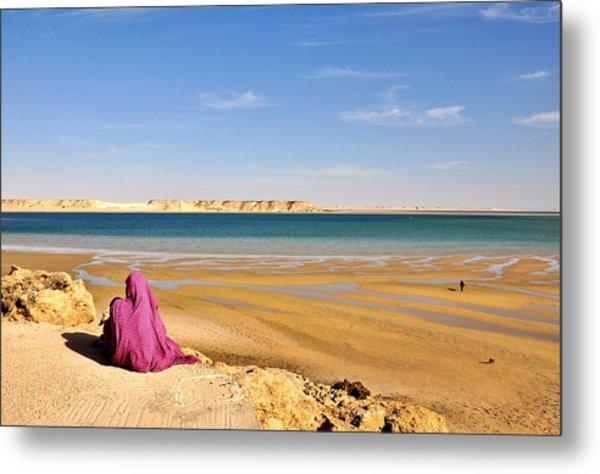 Woman Of The Desert Metal Print by Manu G