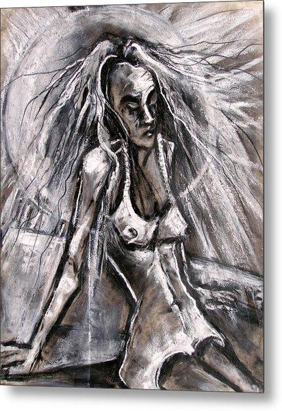 Woman Sunbather Metal Print