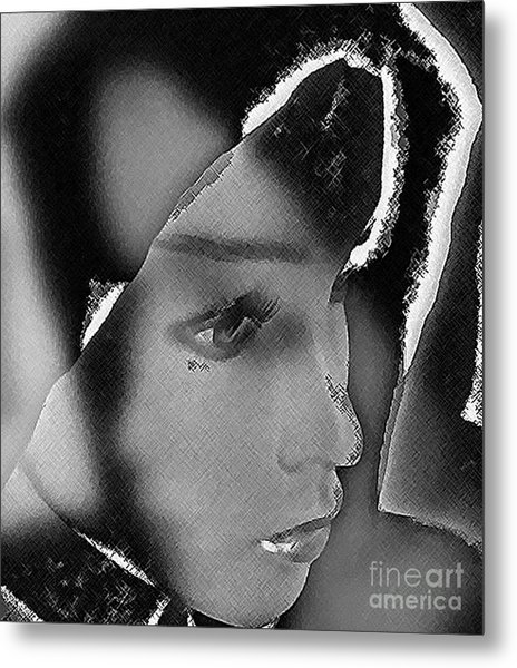 Woman With Broken Heart  Metal Print