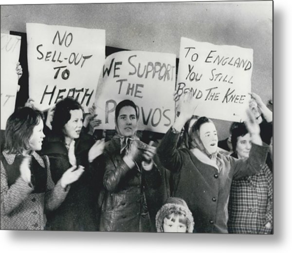 Women Clash In Belfast Metal Print by Retro Images Archive