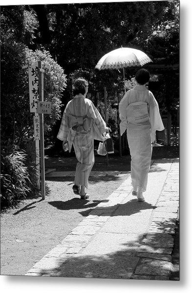Women In Kimono Metal Print