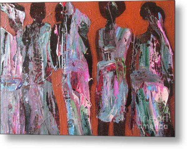 Women Of Dodoma Metal Print by Omar Hafidi